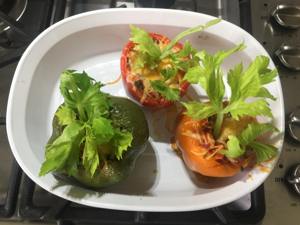 How to Make Veggie Stuffed Peppers