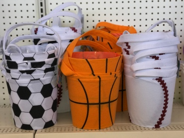 Dollar Tree Sports Themed Easter Baskets