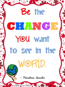 Being the Change You Want ToSee